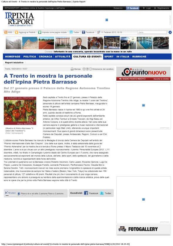 Cultura ed Eventi - A Trento in mostra la personale dellirpina Pietra Barra-1