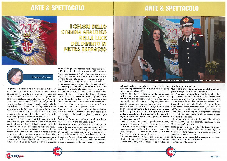 Intervista Rivista Carabinieri dItalia