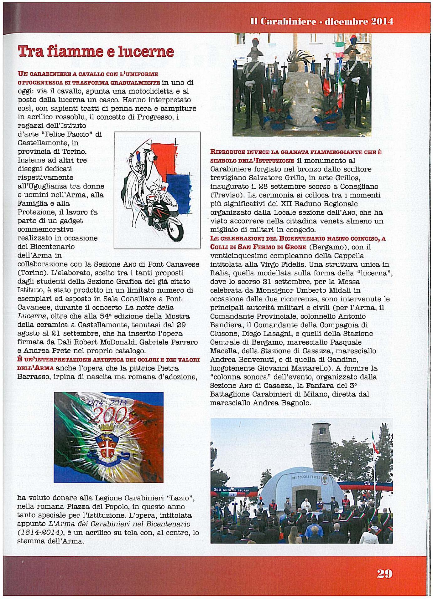 Rivista IL CARABINIERE 2014